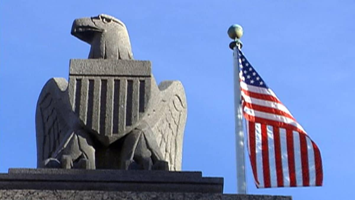 USA:n kotka ja lippu