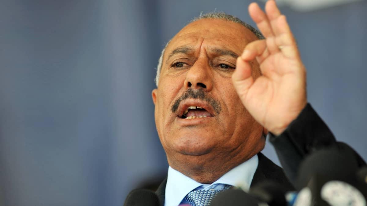 Jemenin presidentti Ali Abdullah Saleh.