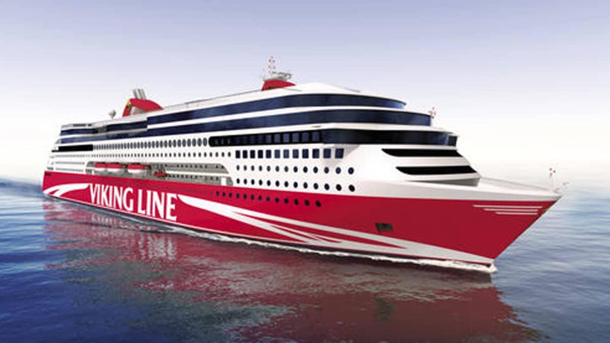 Havainnekuva Viking Linen  uudesta laivasta.