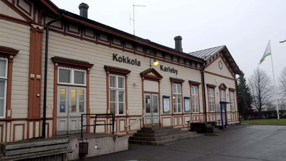 Kokkolan rautatieasema.