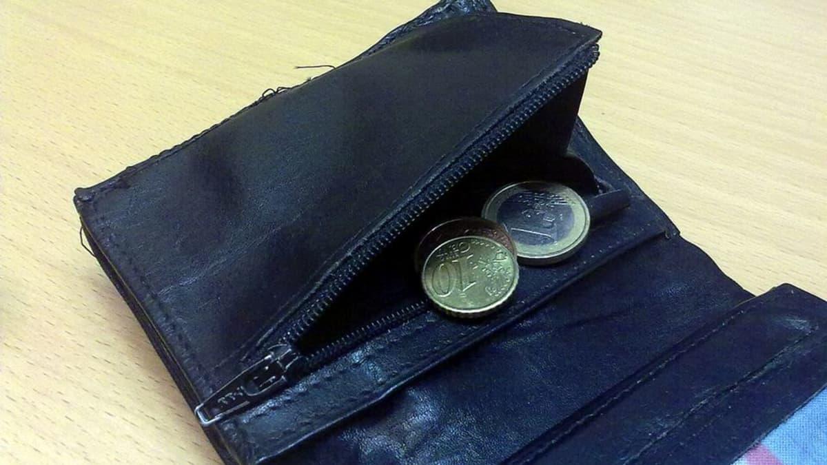 Kolikoita lompakossa