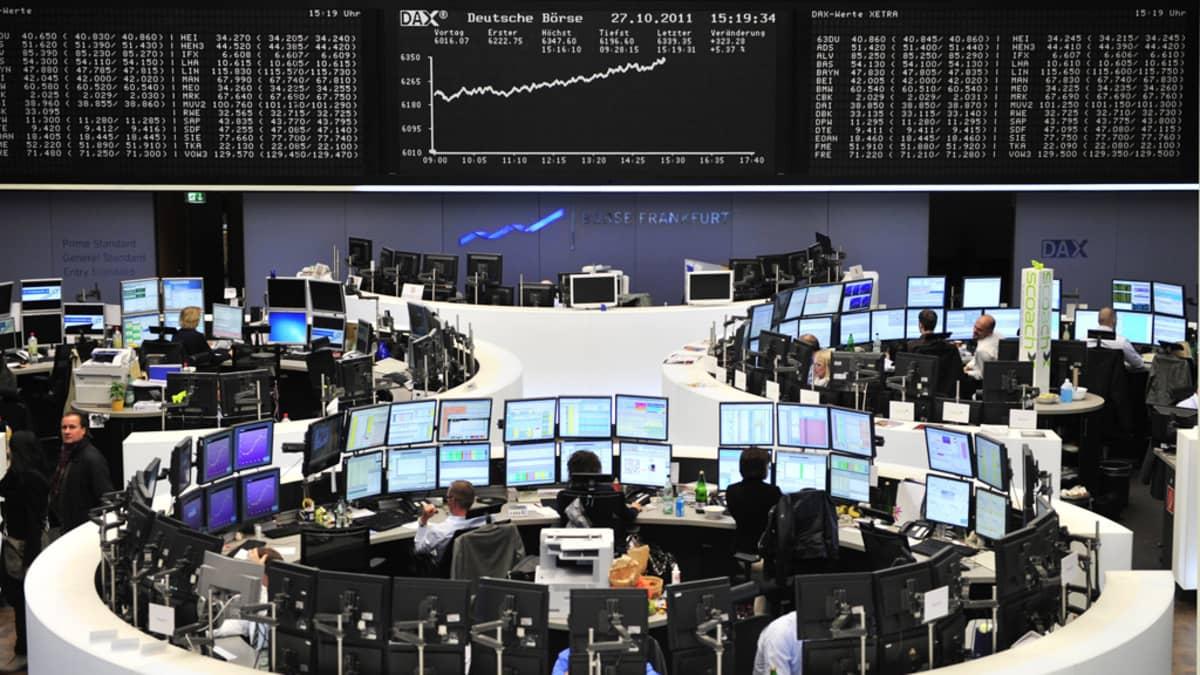 Frankfurtin pörssi.