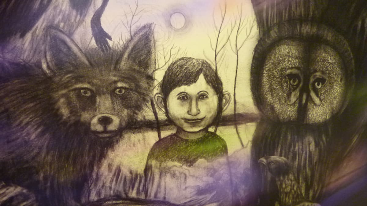 Ylä-Kainuun tarinakartaston piirrokset ovat Sari Hiltusen käsialaa.