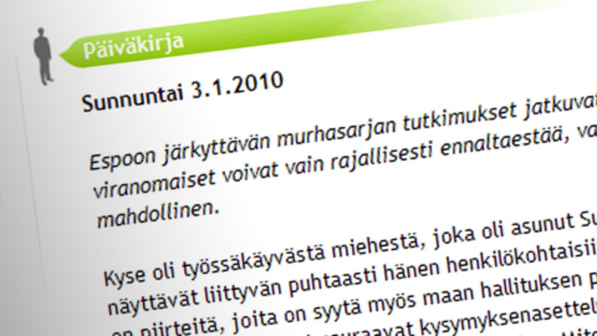 Matti Vanhasen blogi 3.1.2010