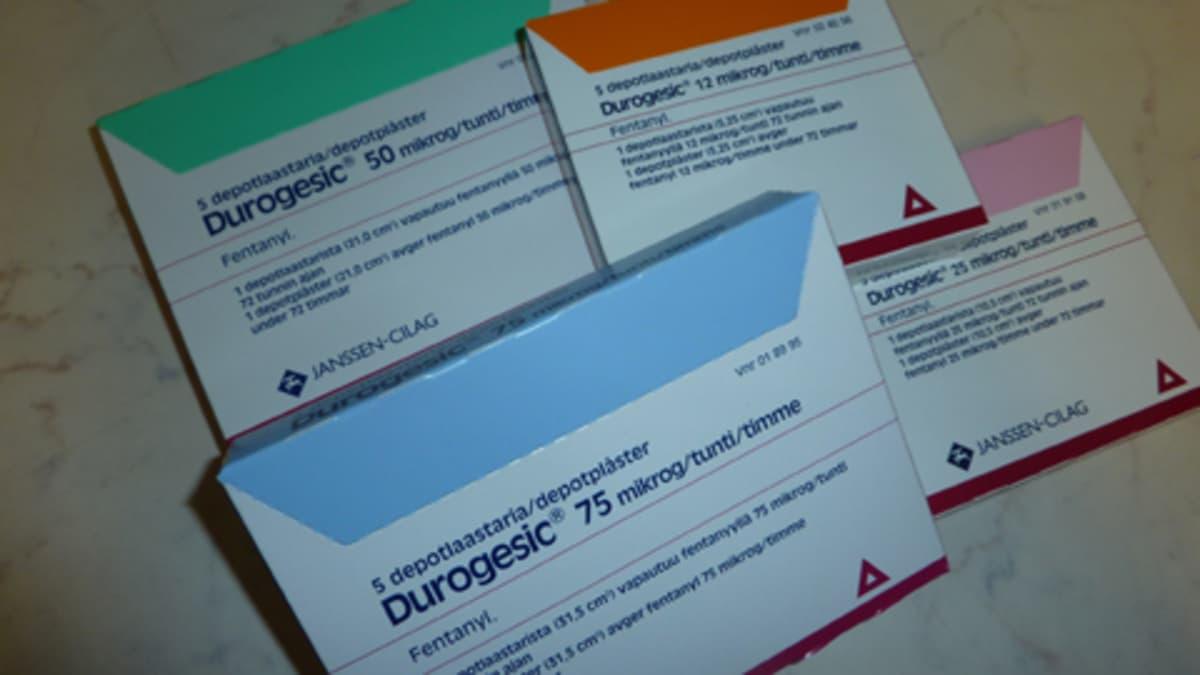 Durogesic lääkelaastaripakkauksia.