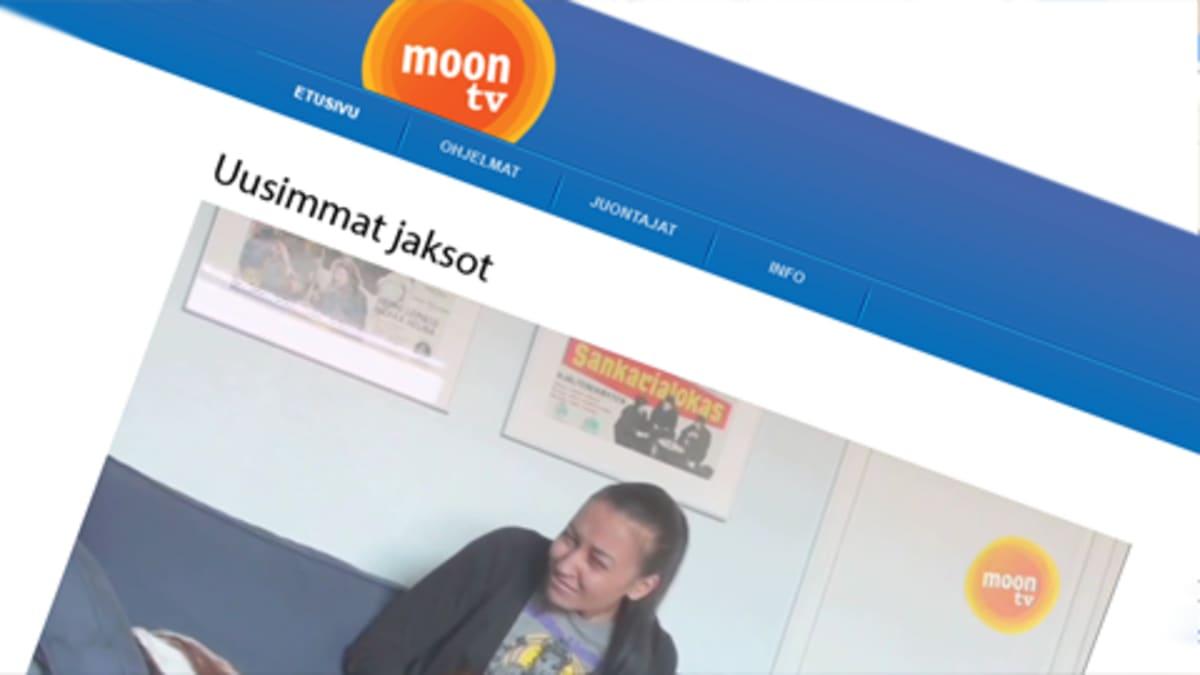 Kuvakaappaus Moon tv:n netisivulta.