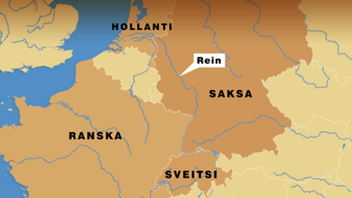 Kartta Rein-joesta.