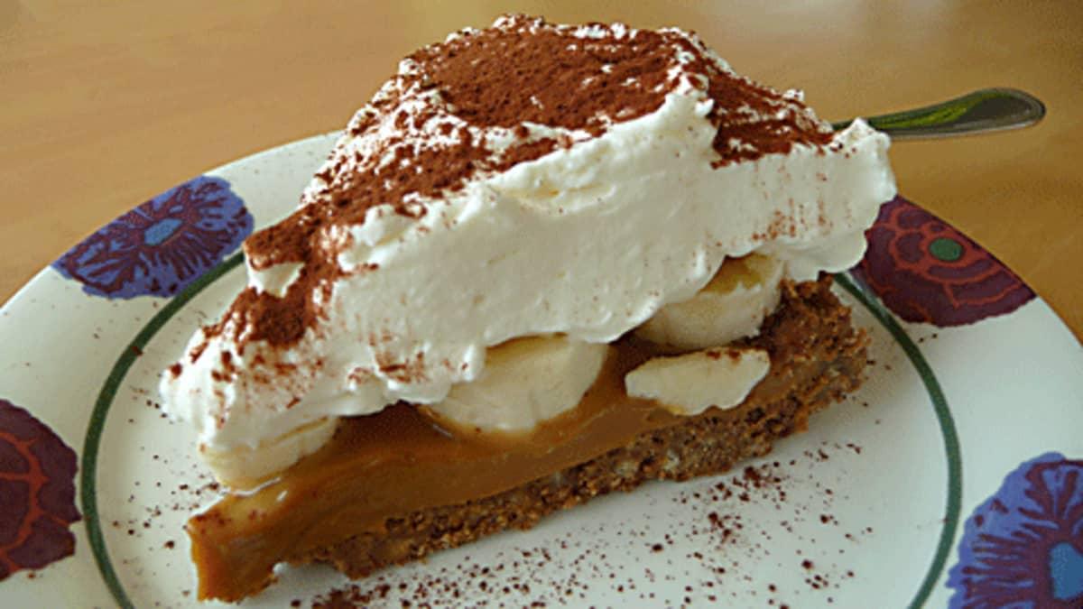 Kuvassa pala Banoffee-kakkua.