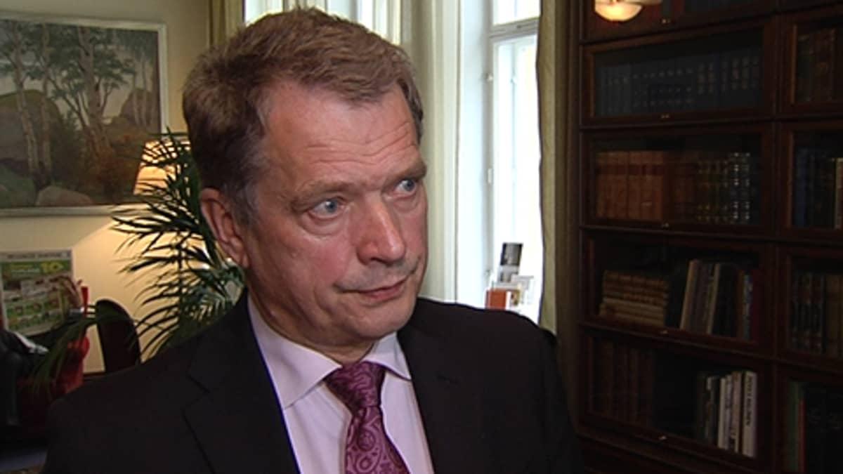 Eduskunnan puhemies Sauli Niinistö.