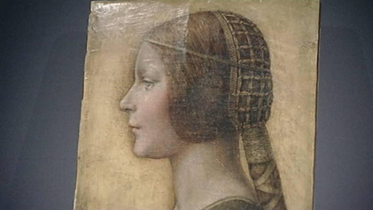 Leonardo da Vincin maalaus La bella Principessa, osa maalauksesta