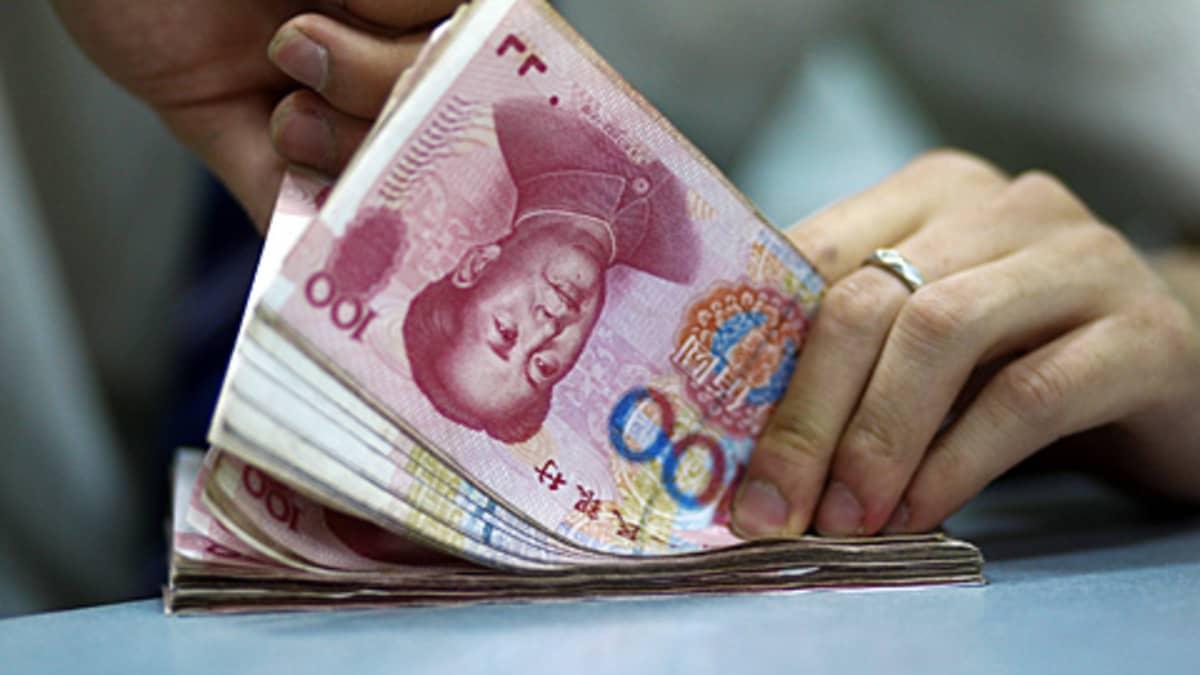 Kiinan valuuttaa.