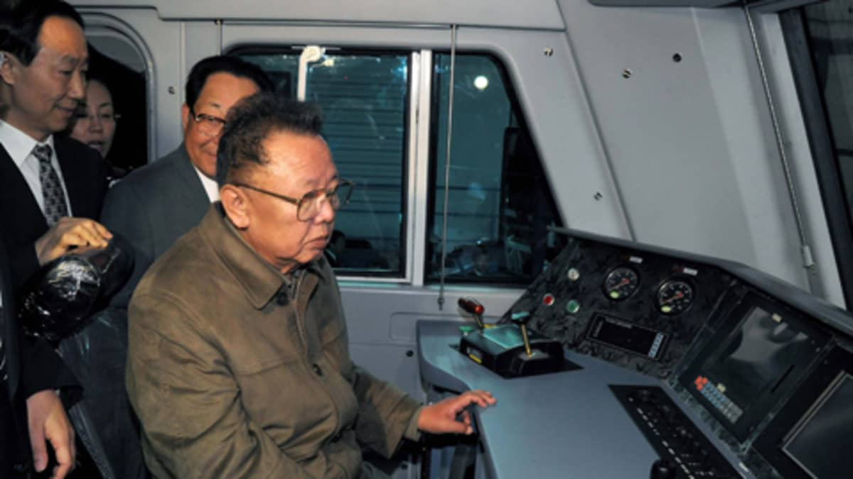 Pohjois-Korean nykyinen johtaja Kim Jong-il.