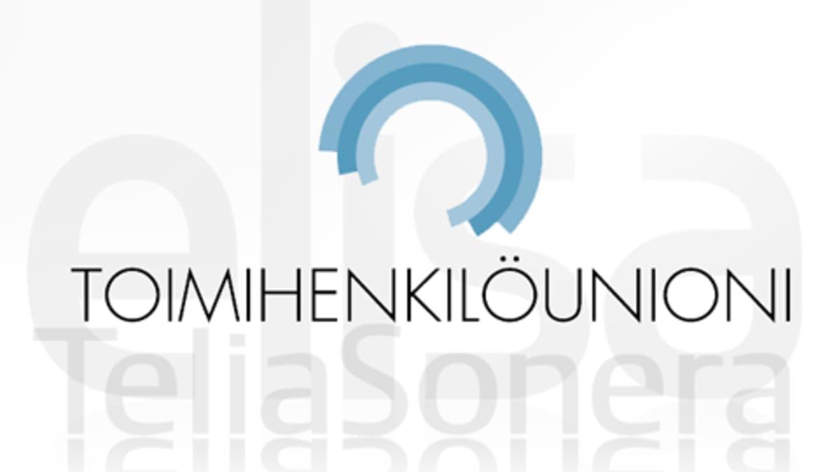 Toimihenkilöunionin, Elisan ja TeliaSoneran logot.