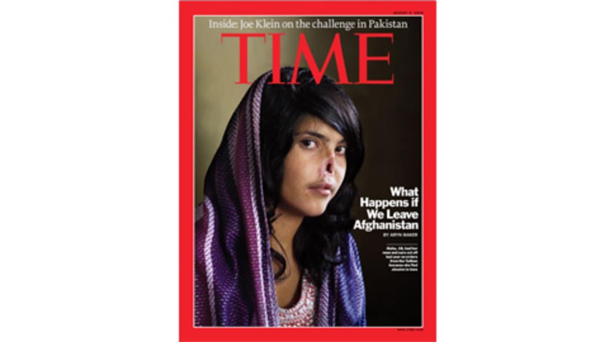 Time-lehden kansi jossa on silvottu afgaaninainen.