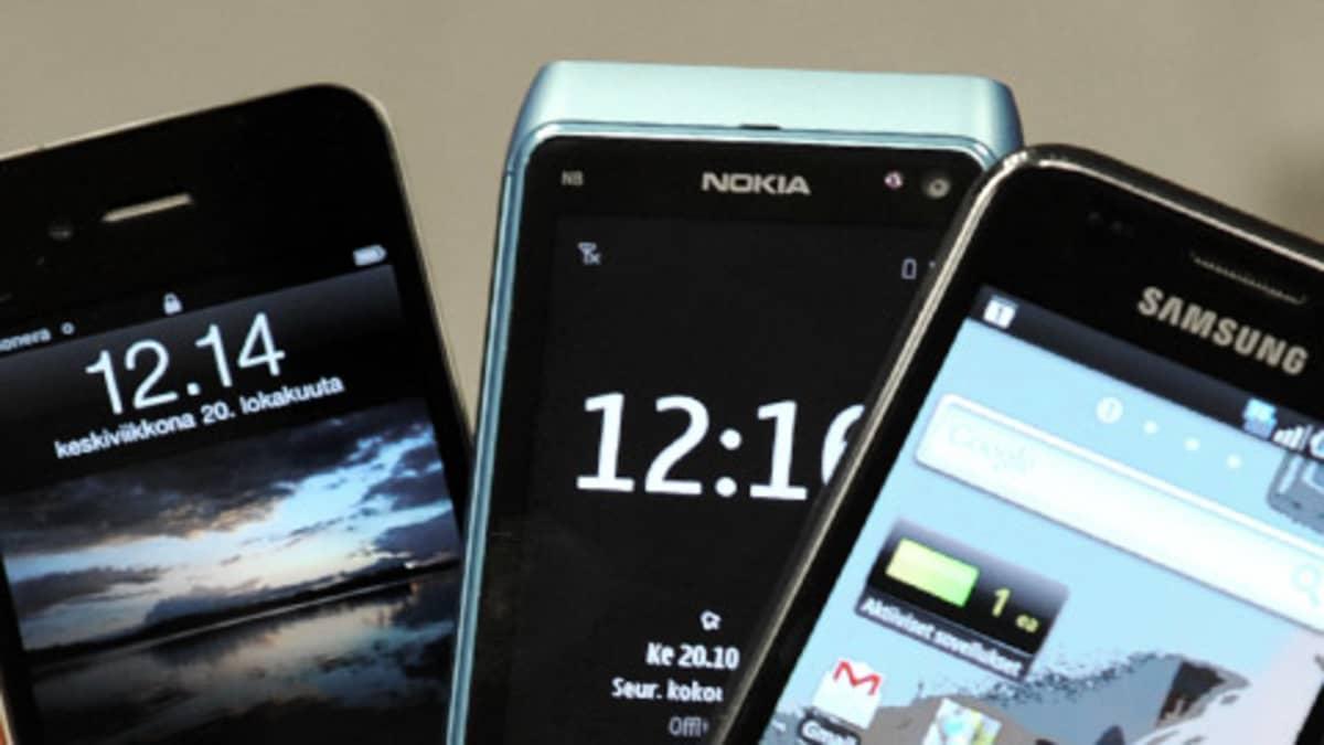 iPhone 4, Nokia N8, Samsung Galaxy S