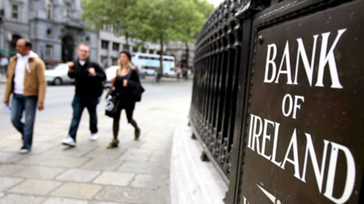 Bank of Irelandin (BOI) konttori Dublinissa.
