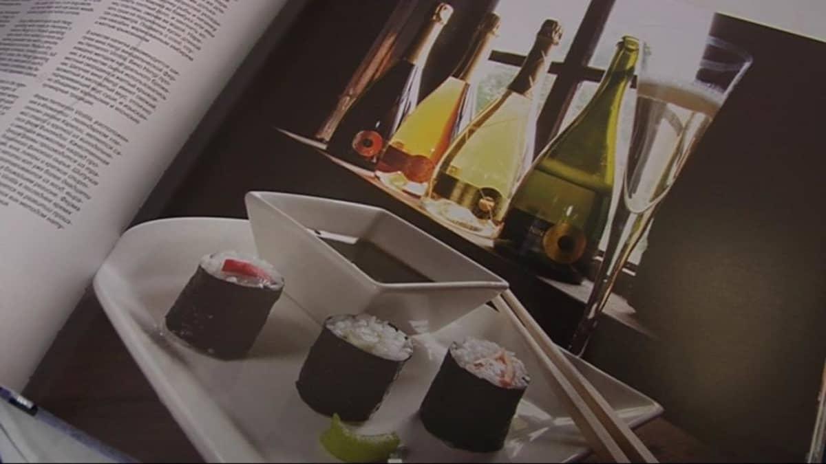 Sushi-annos Karelia á la carte -kirjassa.