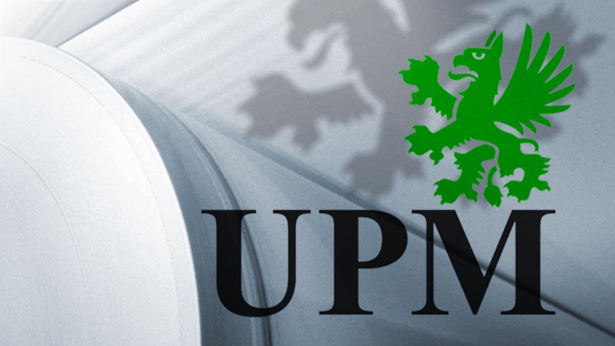 Grafiikka, jossa UPM:n logo.