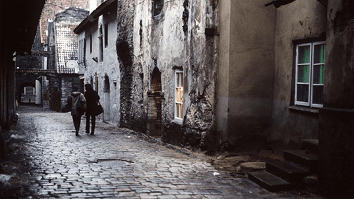 Tallinnan vanhaa kaupunkia.