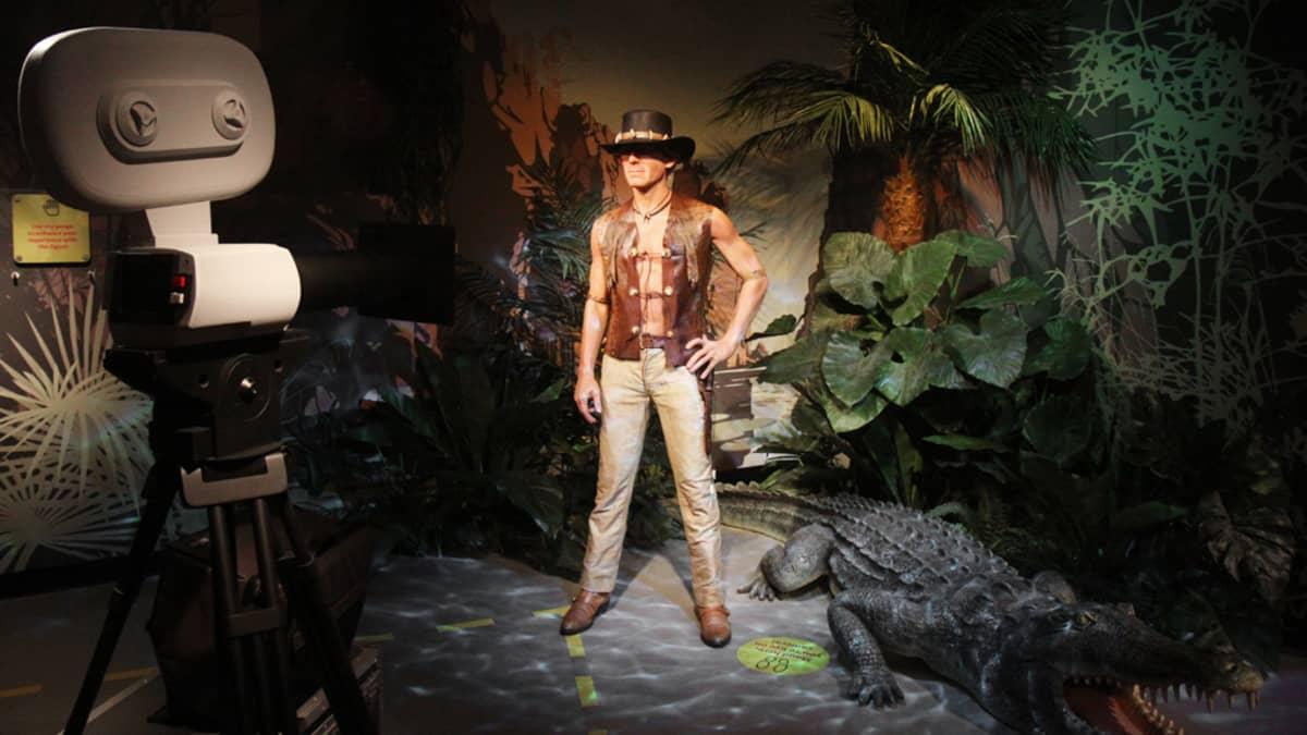 Näyttelijä  Paul Hoganista tehty vahanukke Australian Madame Tussaudin kabinetissa Sydneyssä.