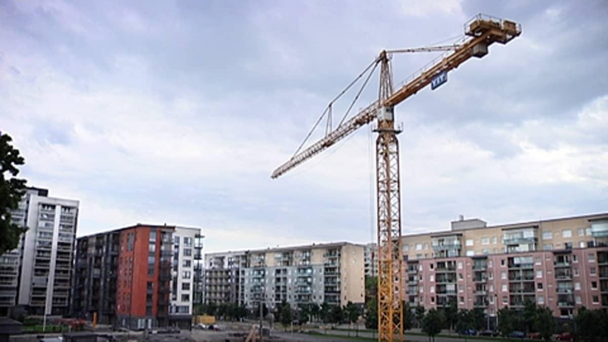 YIT:n rakennustyömaa Tampereella.