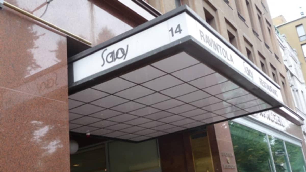 Savoy-ravintolan lippa.