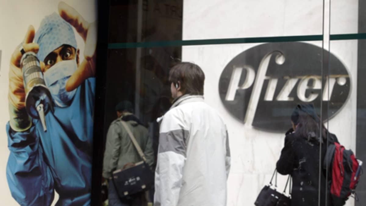 Phizerin pääkonttori New Yorkissa joulukuussa 2004