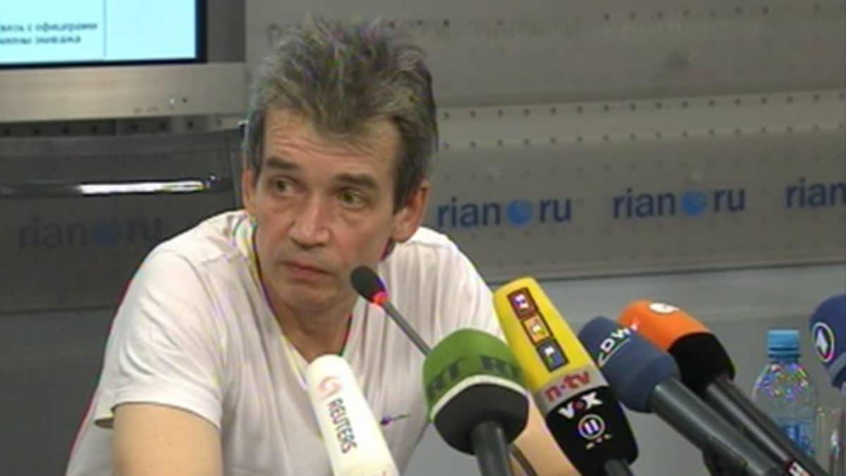 Verkkolehti Sovfrachtin päätoimittaja Mihail Voitenko