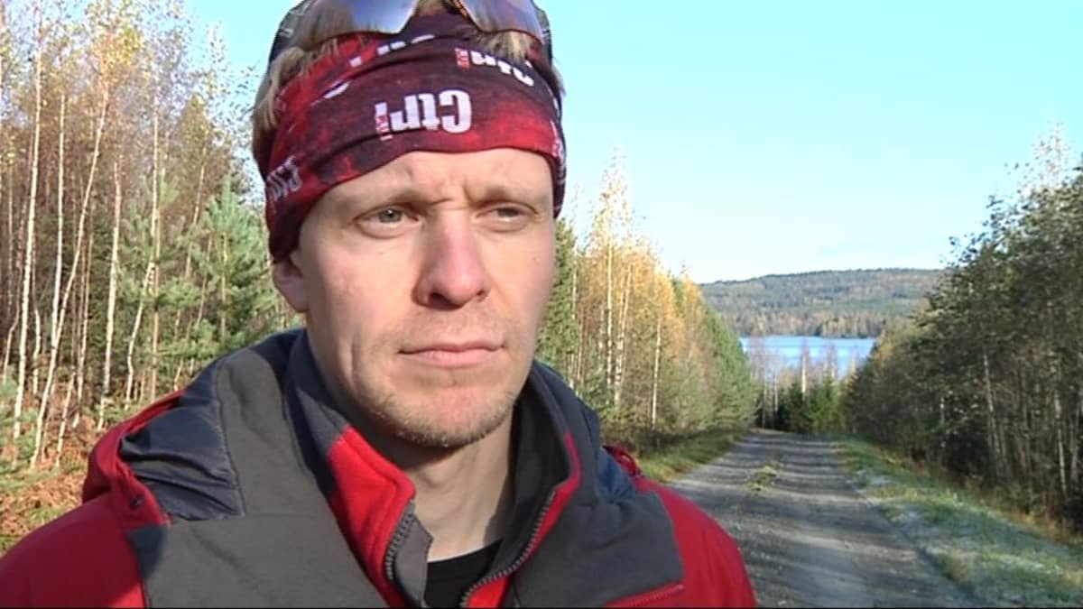 Heikki Hamunen Herajärven maisemissa.