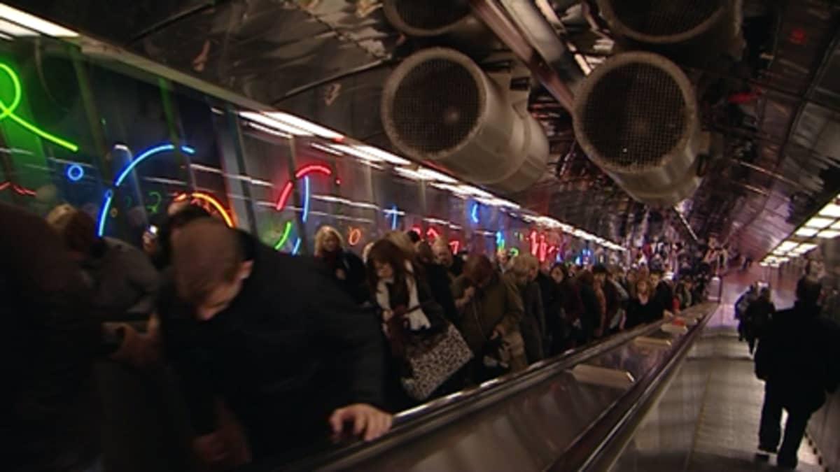 Helsingin Yliopiston metroasema.