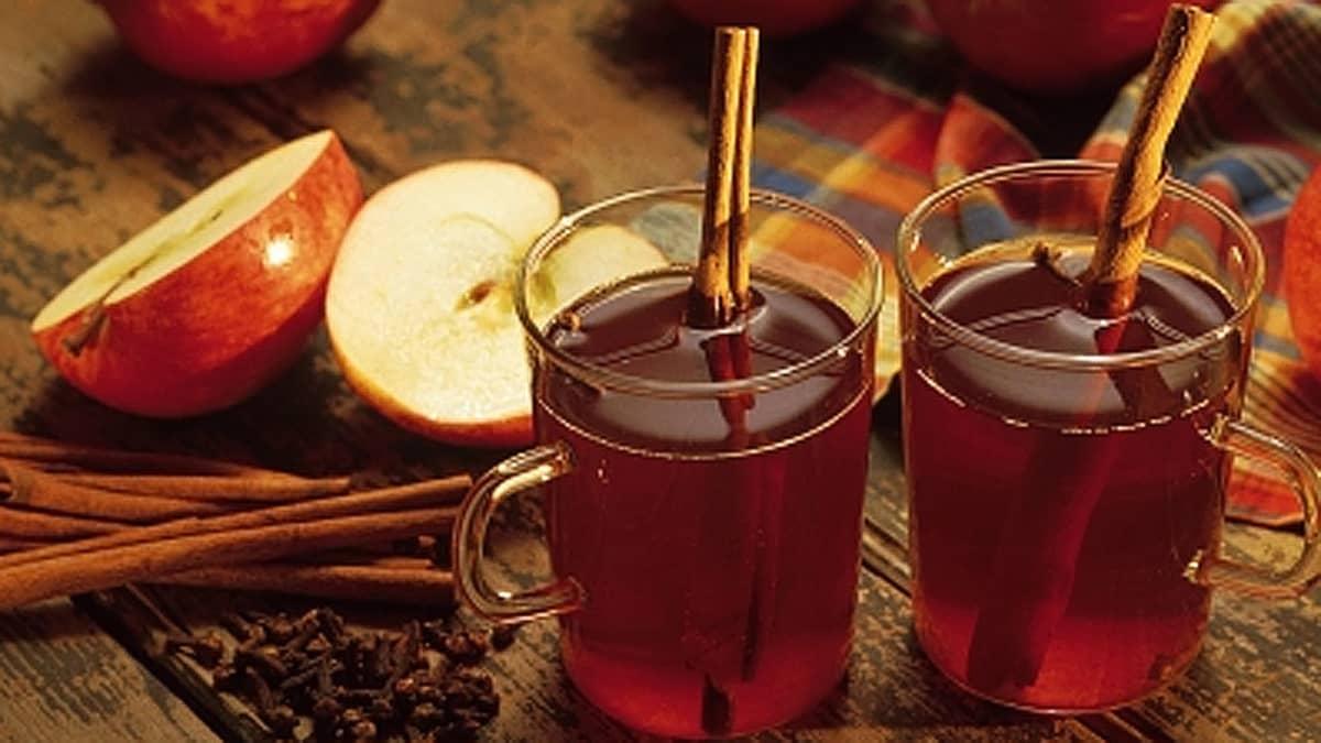 Glögi maustetaan perinteisesti kanelilla.