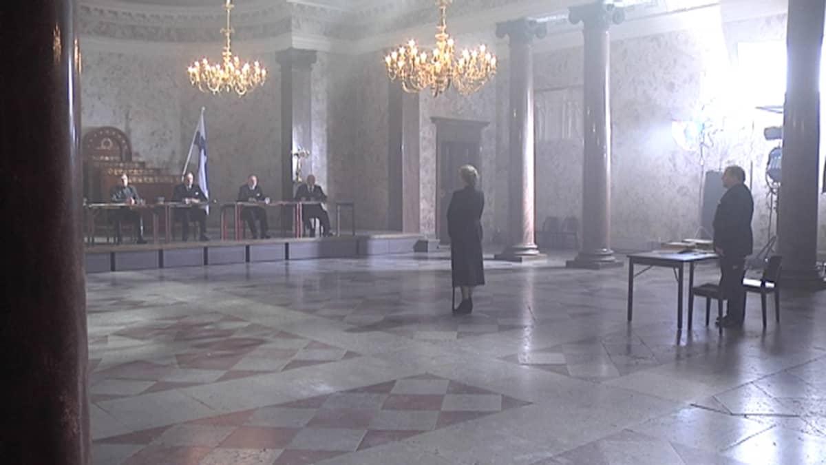 Hella W -elokuvan kuvaukset Turussa.