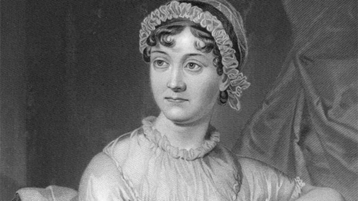 Kaiverrettu Jane Austenin muotokuva