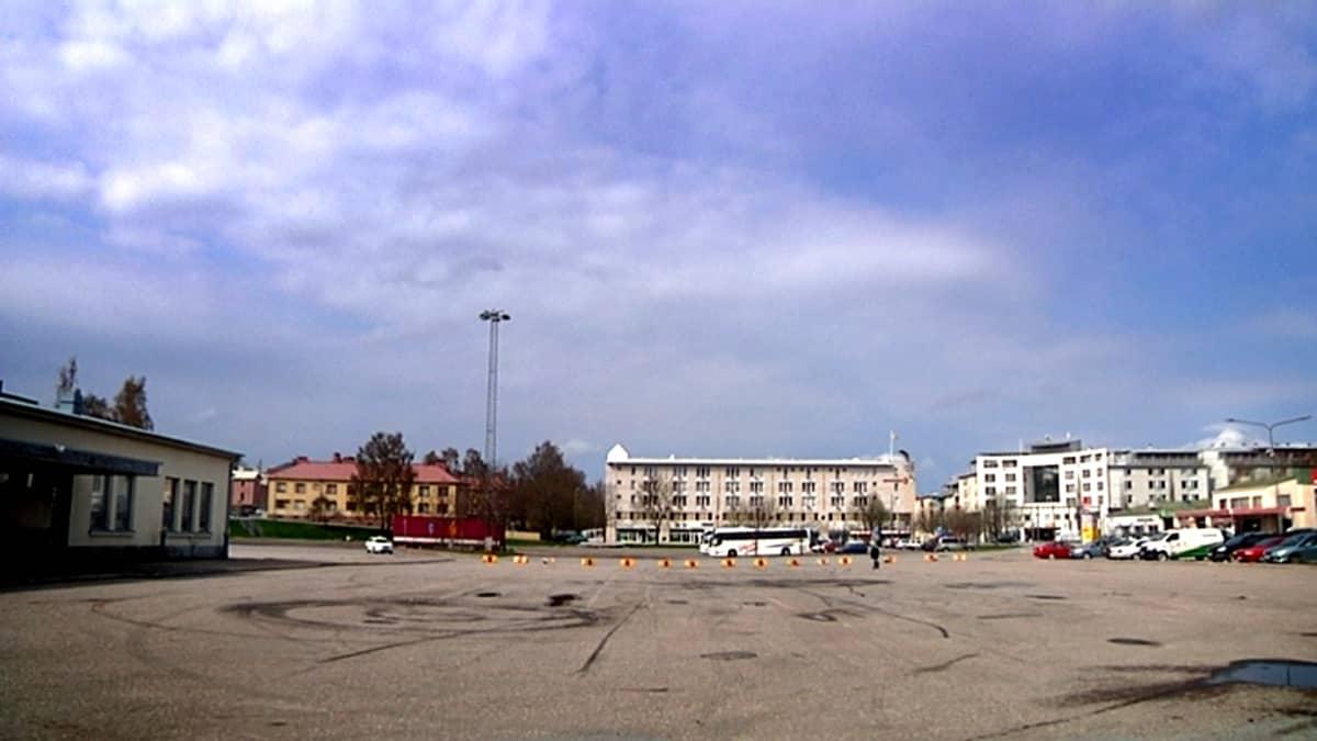 Vanhan linja-autoaseman alue Vaasassa.