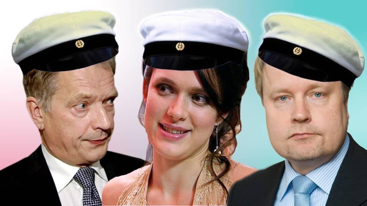 Sauli Niinistö, Krista Kosonen ja Matti Apunen.