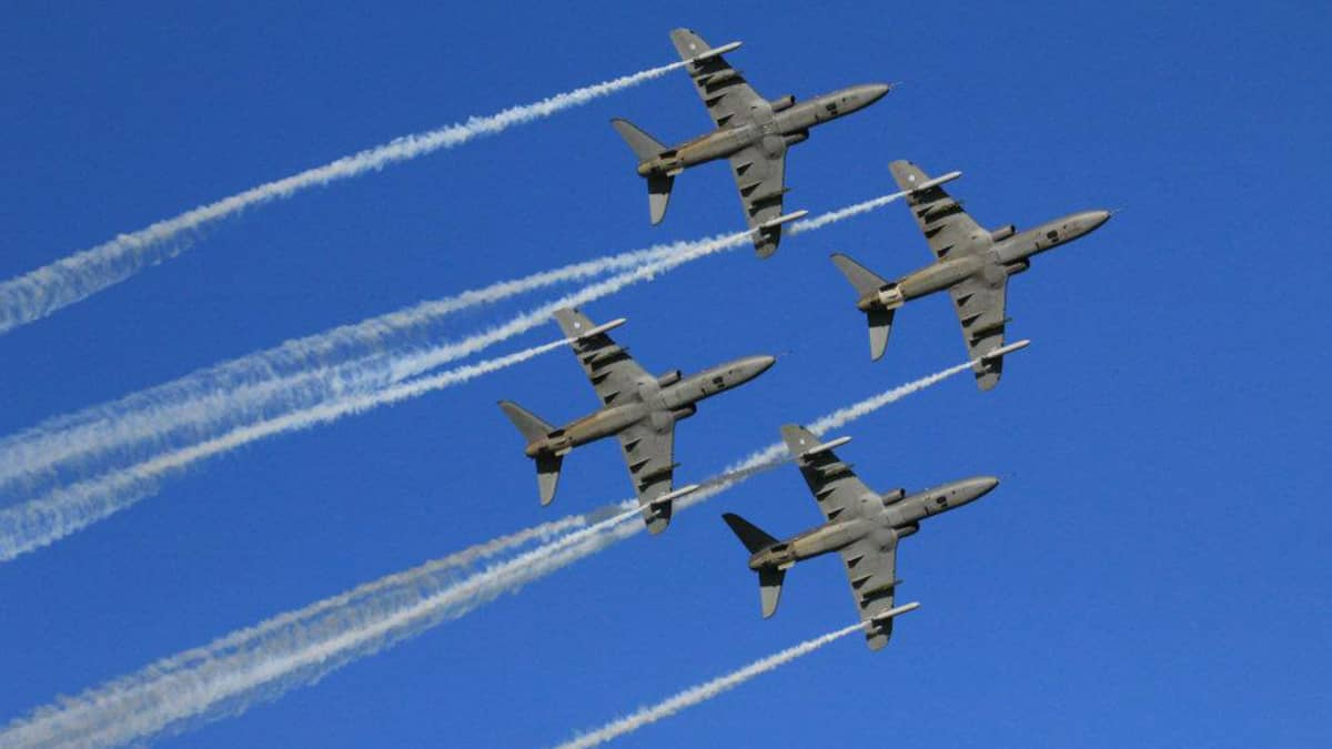 The Midnight Hawks, the aerobatic team of the Finnish Air Force.
