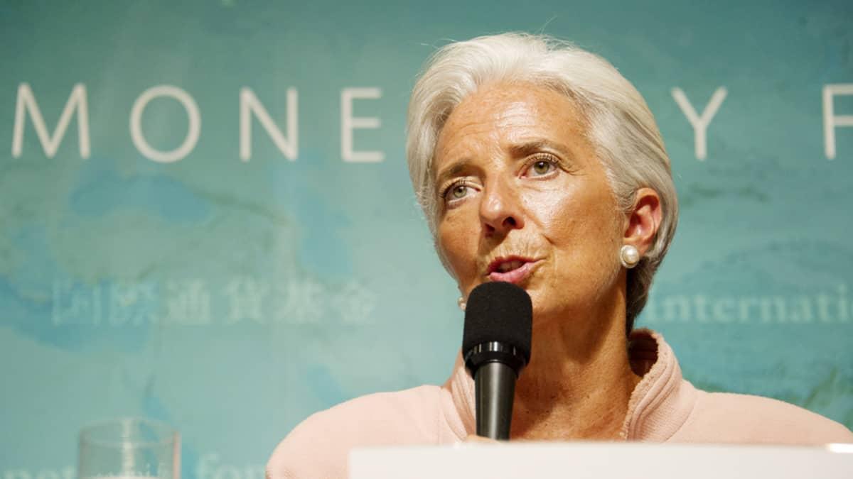 Kansainvälisen valuuttarahaston pääjohtaja Christine Lagarde.
