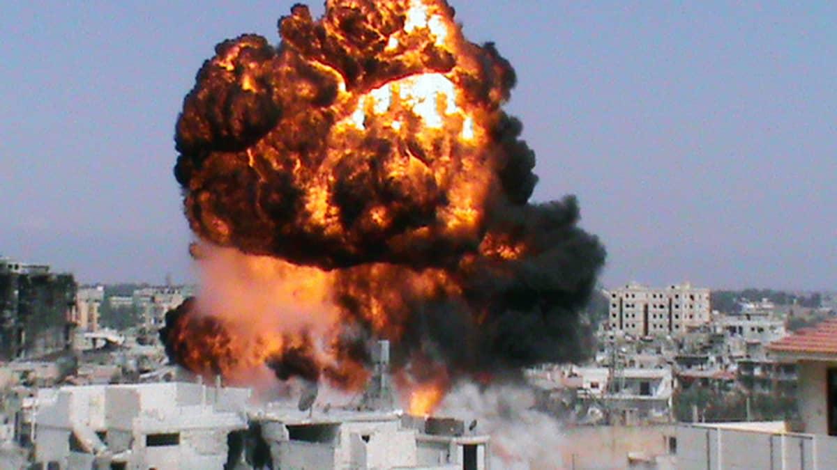Kiivaat taistelut jatkuivat Homsissa, Syyriassa, 22. heinäkuuta 2012.