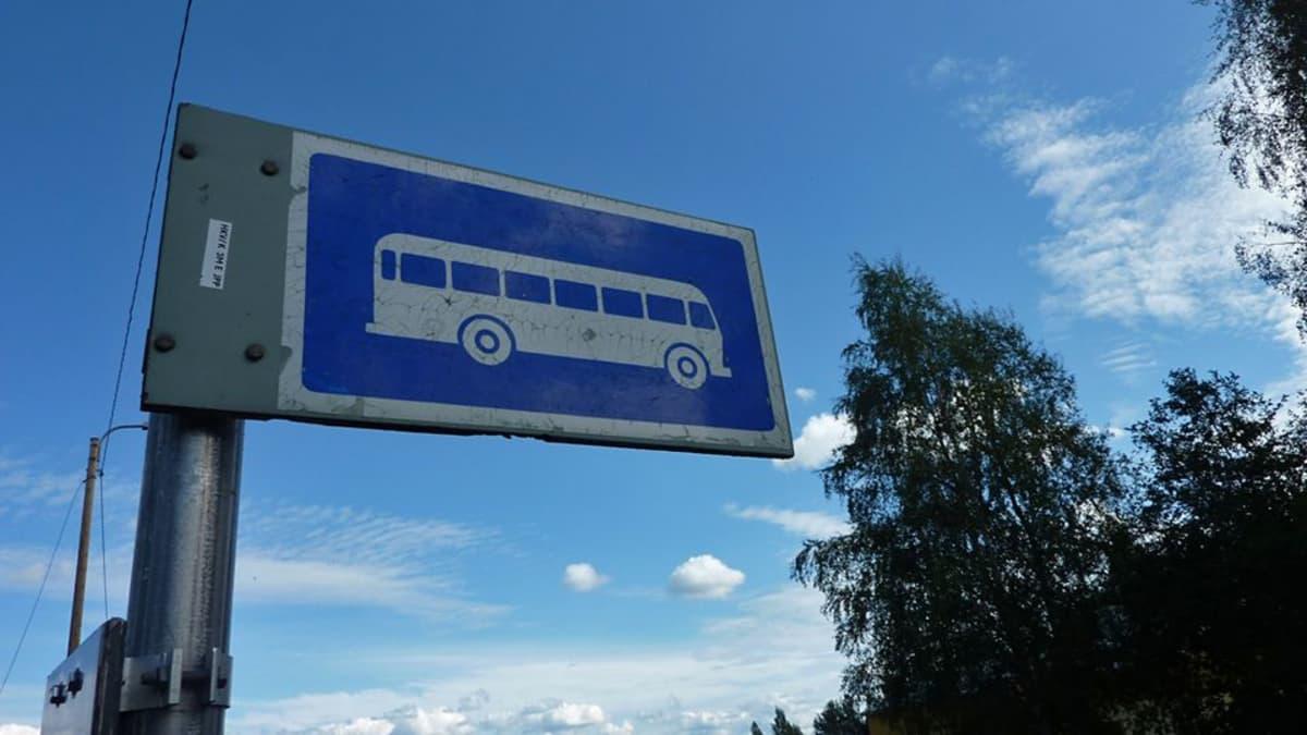 Linja-autopysäkin merkki
