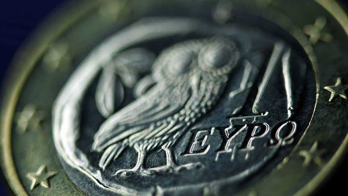 Euro-kolikko kreikasta.