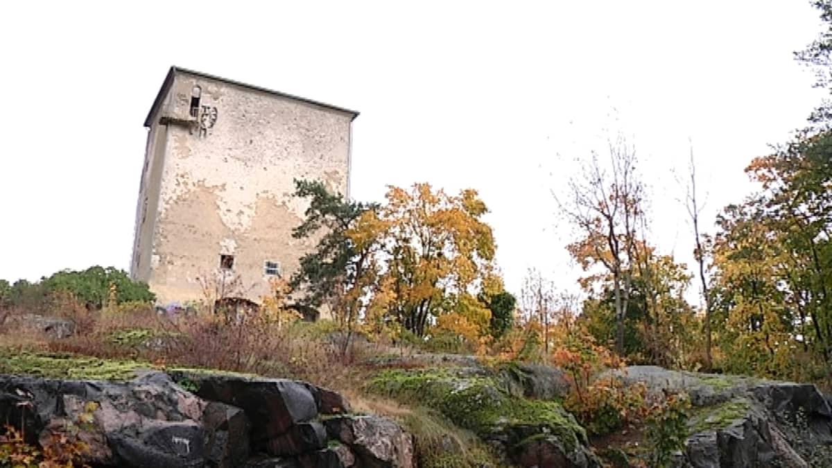 Vuoritalo Nyyrikinpuiston kalliolla.