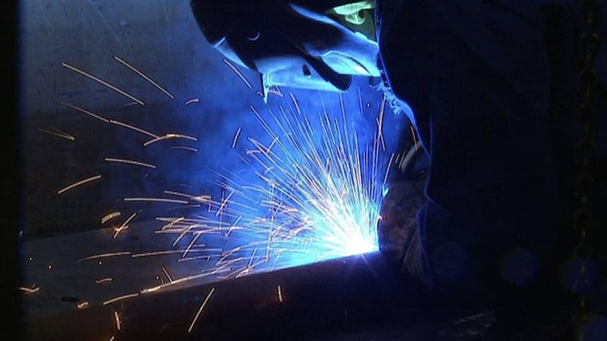 A welder at work.