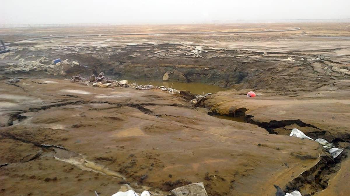 Talvivaaran kipsisakka-altaan päävuotokohta
