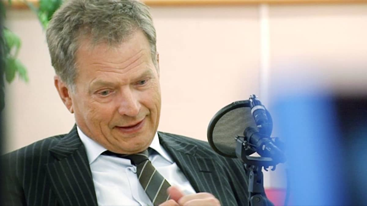 The president appeared relaxed during a broadcast from Yle's Pasila studios on Saturday.