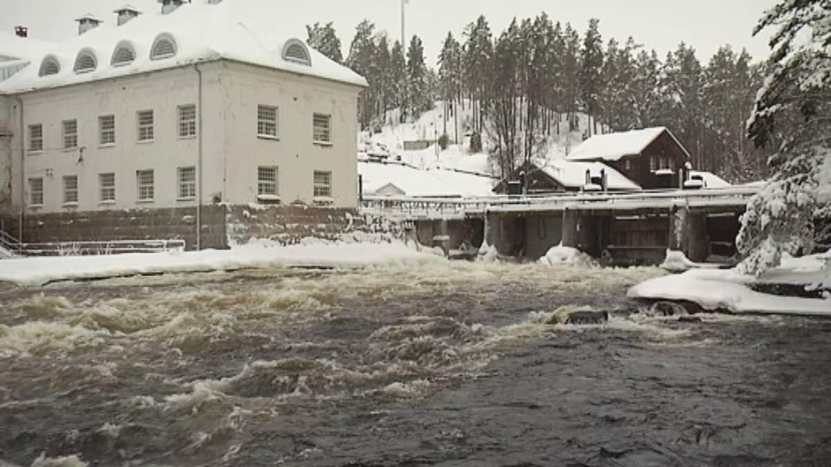 Woikosken tehdas Mäntyharjussa.