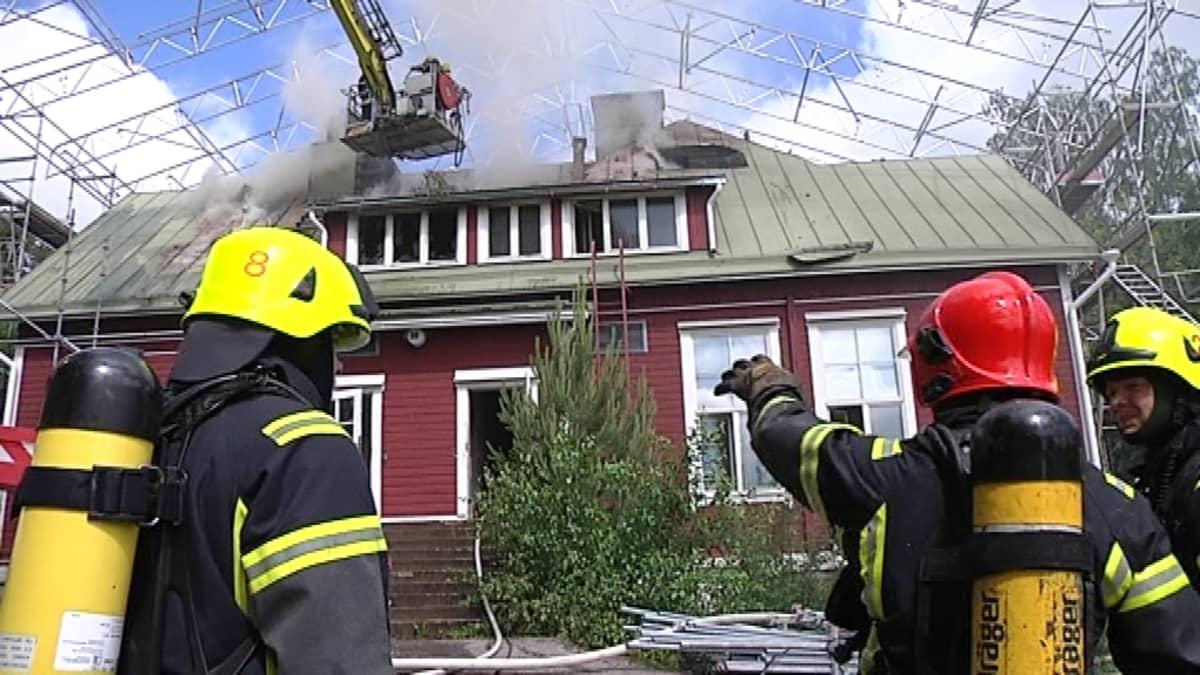 Päiväkoti Pellavan tulipalo Espoossa kesällä 2012