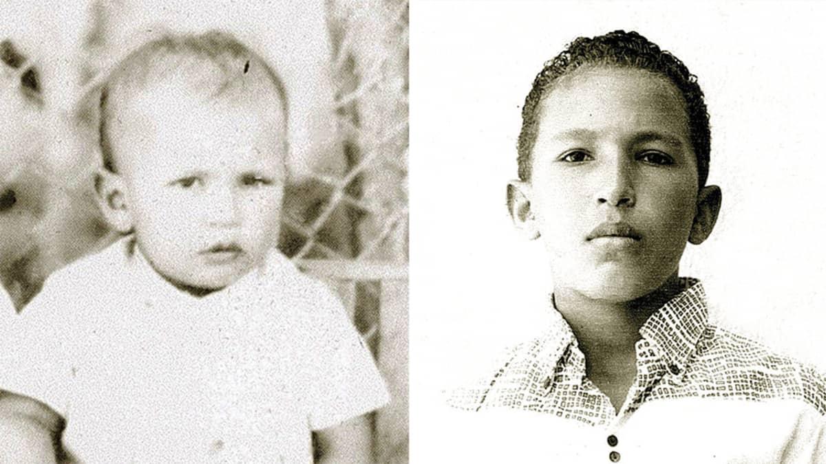 Hugo Chávez lapsena ja nuorena.