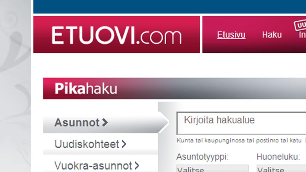 Kuvakaappaus Etuovi.com -sivulta