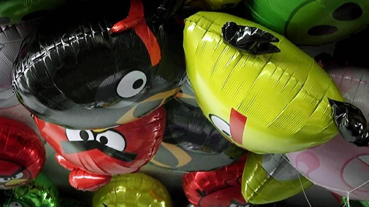 Angry Birds -vappupalloja.