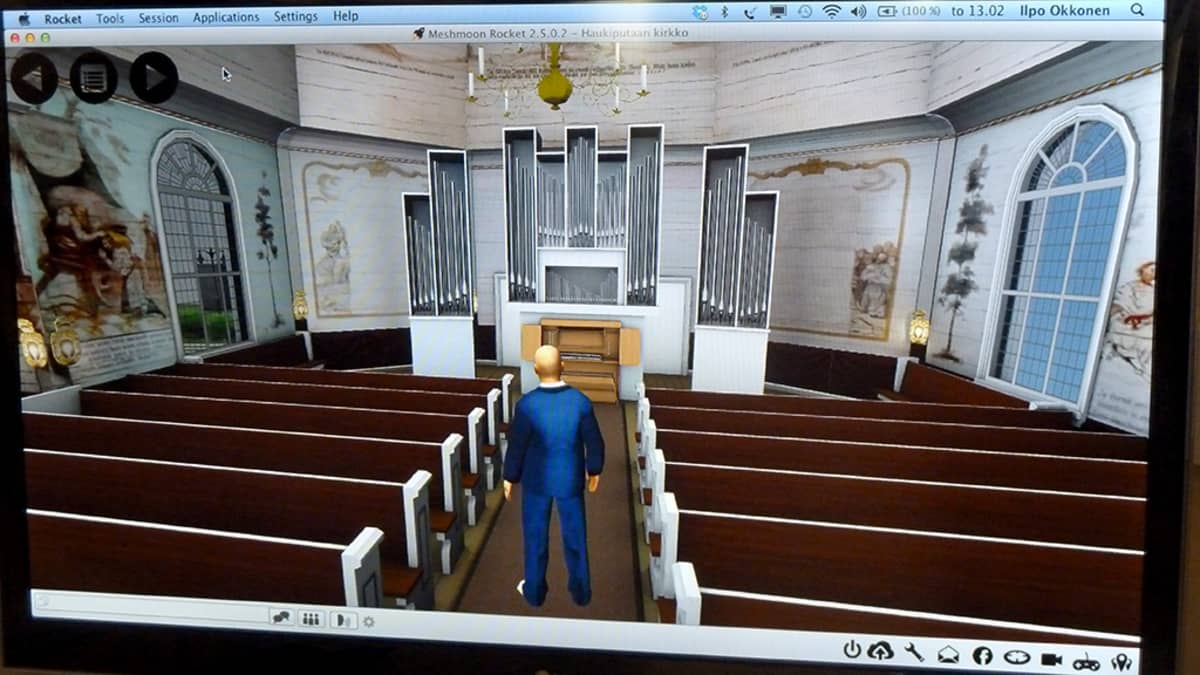 Virtuaalinen 3D-mallinnus Haukiputaan kirkosta